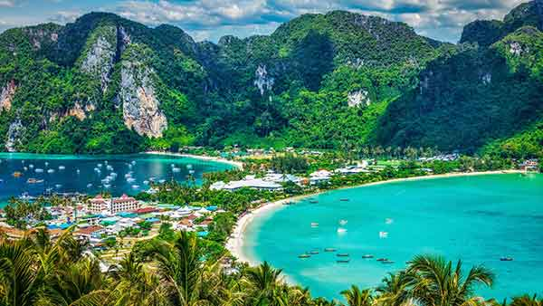 Phi Phi Don Thailand beach is quite the turn around